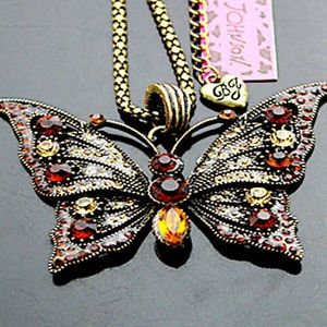 Betsey Johnson Bronze with stones Butterfly